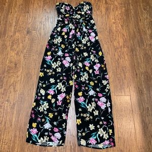 Band of Gypsies floral jumpsuit size large